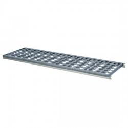 Étagère pour rayonnage en aluminium, de 650 à 1480 x 470 mm