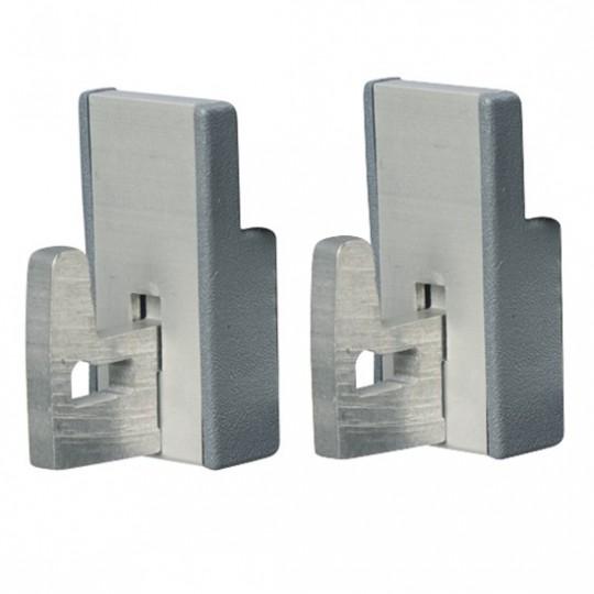 Kit d'assemblage angulaire pour rayonnage en aluminium p370 mm