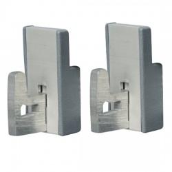 Kit d'assemblage angulaire pour rayonnage en aluminium p560 mm