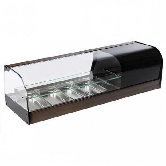 Présentoir réfrigéré pour tapas, 2 niveaux, +1°C/+5°C, de 4x à 8x GN 1/3