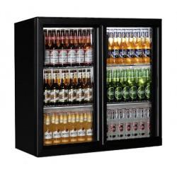 Bar réfrigérée 208 litres +1°/+10°C 2 portes coulissantes