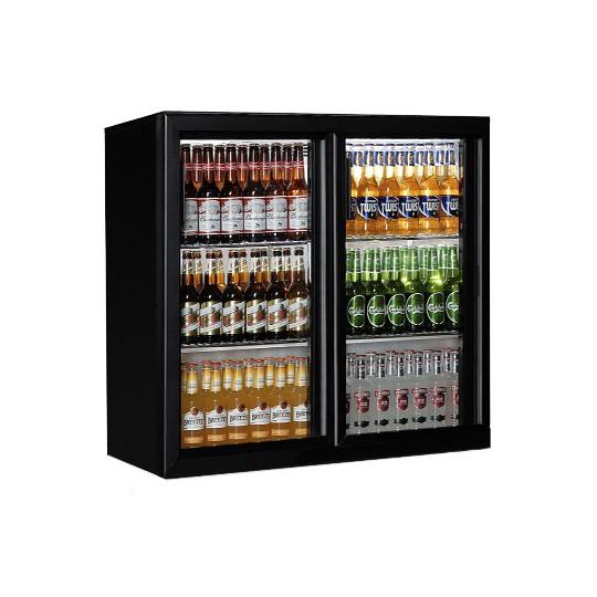 Bar réfrigérée, 208 litres, +1°/+10°C, 2 portes coulissantes