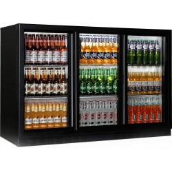 Bar réfrigérée, 330 litres, +1°/+10°C, 3 portes coulissantes