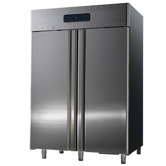 Armoire réfrigérée, 2 portes en inox ou verre, 1400 litres, -2°C/+8°C, 60x40cm