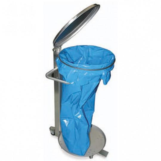 Porte-sac à déchets avec couvercle