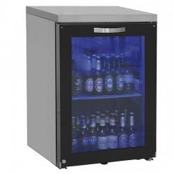 Réfrigérateur bar gauche avec 1 porte battante en verre, 90 bouteilles, 0°/+8°C