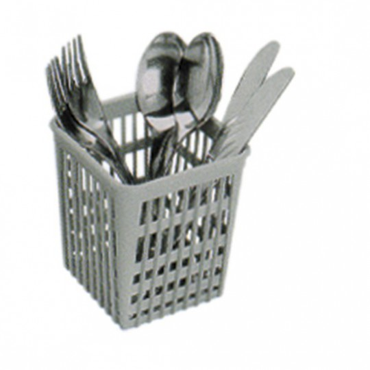Panier à couverts carré pour lave-vaisselle, 110x110 mm, h130 mm