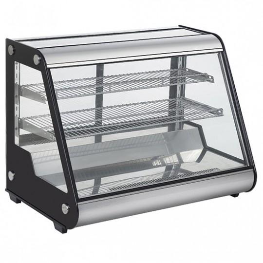 Présentoir réfrigéré de table avec 3 niveaux et verres coulissantes, l697 mm
