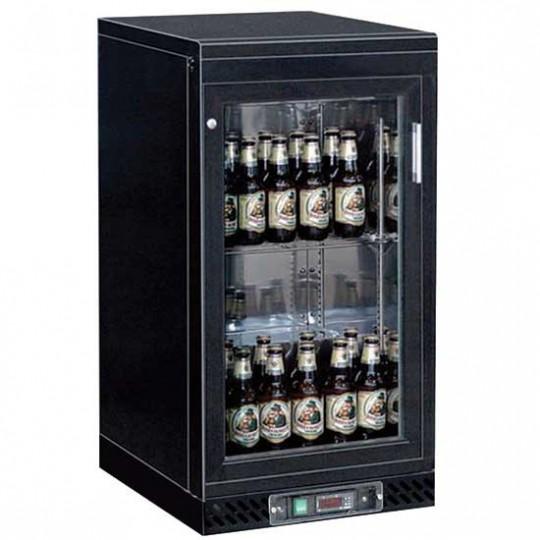 Réfrigérateur bar avec 1 porte battante en verre, 133 litres, +1°/+10°C