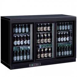 Réfrigérateur bar avec 3 portes battantes en verre, 320 litres, +1°/+10°C
