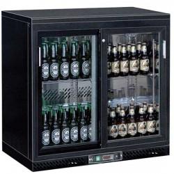 Réfrigérateur bar avec 2 portes coulissantes en verre, 201 litres, +1°/+10°C