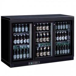 Réfrigérateur bar avec 3 portes coulissantes en verre, 320 litres, +1°/+10°C
