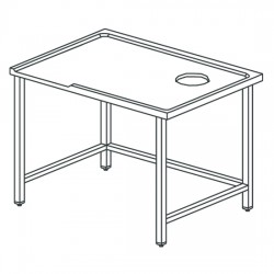 Table de triage gauche avec trou, pour machines avec sortie à droite, l1600 mm