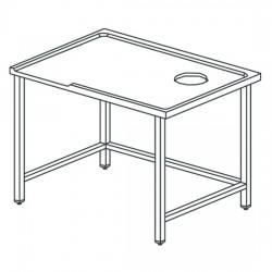 Table de triage gauche avec trou, pour machines avec sortie à droite, l2000 mm