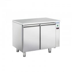 Table réfrigérée en inox, 2 portes inox, 260 litres, 0°C/+8°C,  GN 1/1, 700mm