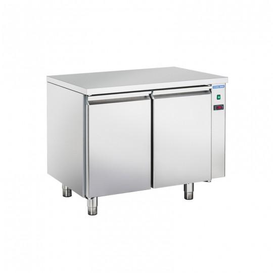 Table réfrigérée en inox, 2 à 4 portes inox, 260 litres, 0°C/+8°C,  GN 1/1, 700mm