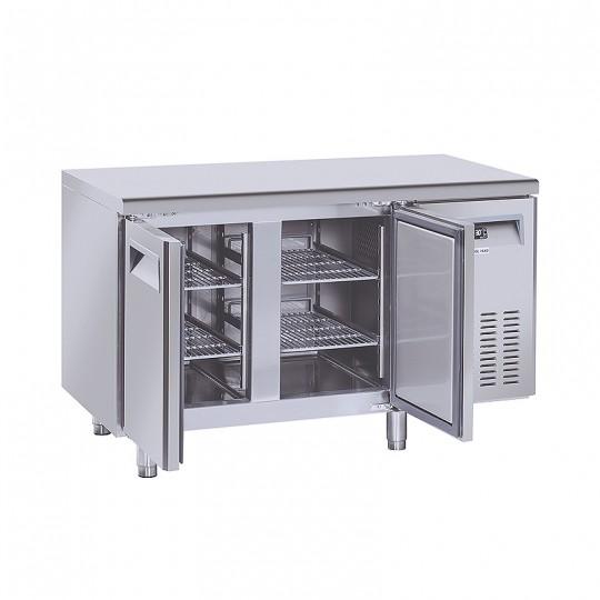 Table réfrigérée en inox, de 2 à 4 portes en inox, 230 litres, -2°/+8°C, GN 1/1,600mm