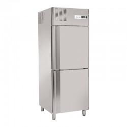 Armoire de congélation, 2 portes inox horizontales 550 litres, -18°C/-22°C