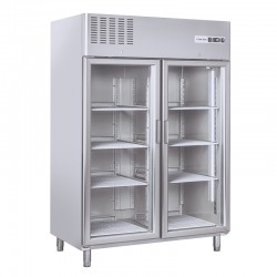 Armoire de congélation, 2 portes vitrées, 1300 litres, -15°C/-18°C