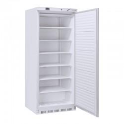 Congélateur en inox revêtement blanc, 1 porte  vitrée, ABS interne, 600 litres, -18°C/-22°C