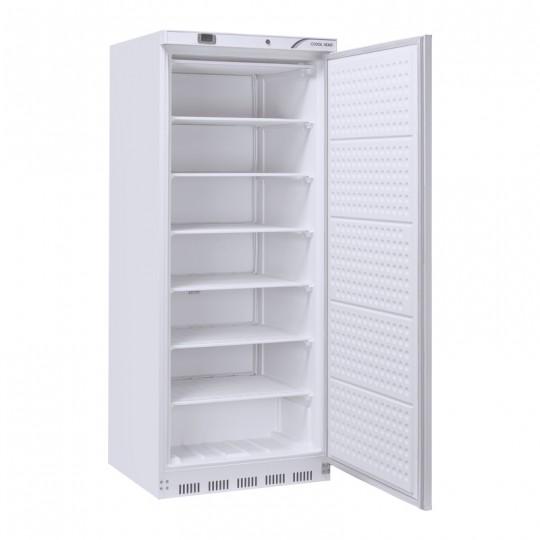 Congélateur en inox revêtement blanc, 1 porte, ABS interne, 600 litres, -18°C/-22°C