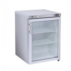 Congélateur en inox, 1 porte  vitrée, ABS interne, 200 litres, -18°C/-21°C