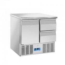 Saladette en inox, 3 portes, 214 litres, 0°C/+8°C