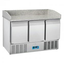 Saladette en inox, 3 portes, 350 litres, 0°C/+8°C