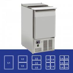 Saladette en inox, 1 porte, 230 litres, 0°C/+8°C