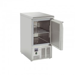Saladette en inox, 2 tiroirs, 215 litres, 0°C/+8°C