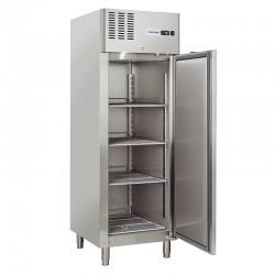Armoire réfrigérée en inox, 1 porte, 550 litres, -2°/+8°C