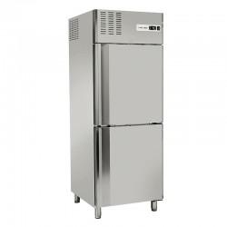 Armoire réfrigérée en inox, 2 portes, 550 litres, -2°/+8°C