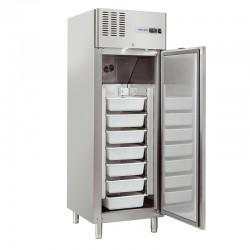 Armoire réfrigérée en inox, 2 portes inox horizontales, 550 litres, -7°/+2°C