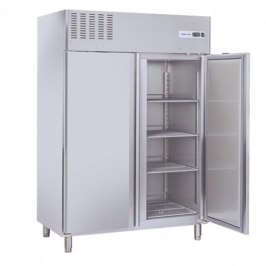 Armoire réfrigérée en inox, 2 portes en inox, 1300 litres, -2°/+8°C