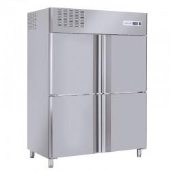Armoire réfrigérée en inox, 4 portes en inox, 1300 litres, -2°/+8°C