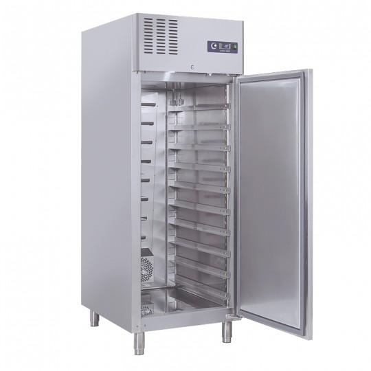 Armoire réfrigérée en inox pour boulangerie, 1 porte en inox, 800 litres, +2°/+8°C
