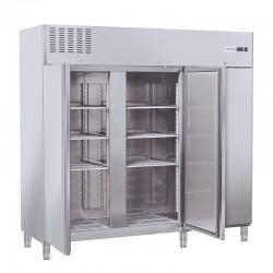 Armoire réfrigérée en inox, 3 portes, 1170 litres, -2°/+8°C