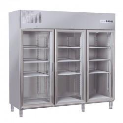 Armoire réfrigérée en inox, 3 portes, 1170 litres, +3°/+10°C