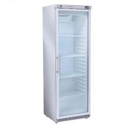 Armoire réfrigérée inox, porte vitrée, 400 litres, +2°/+8°C