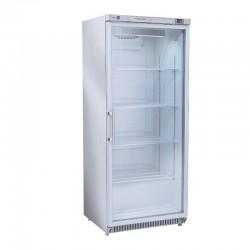 Armoire réfrigérée inox, porte vitrée, 600 litres, +1°/+12°C