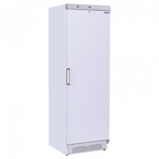 Armoire réfrigérée revêtement blanc, porte inox, 350 litres, +2°/+8°C