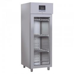 Armoire réfrigérée pour fromages & salamis en inox, porte vitrée, 700 litres, +0°C/+25°C