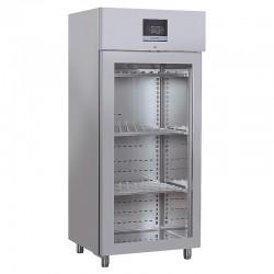 Armoire réfrigérée pour fromages & salamis en inox, porte vitrée, 900 litres, +0°C/+25°C