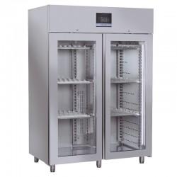 Armoire réfrigérée pour fromages & salamis en inox, porte vitrée, 1500 litres, +0°C/+25°C