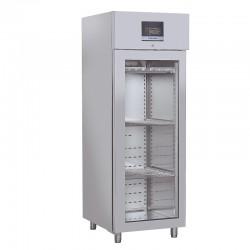 Armoire réfrigérée pour viandes en inox, porte vitrée, 700 litres, +2°/+5°C