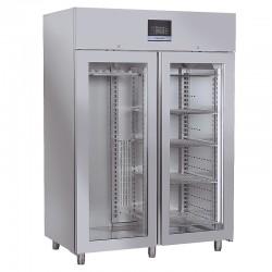 Armoire réfrigérée pour viandes en inox, 2 porte vitrées, 1500 litres, +2°/+8°C