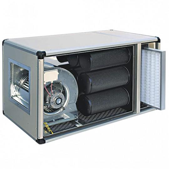 Unité filtrante et désodorisant avec moteur direct, 2500 m³/h