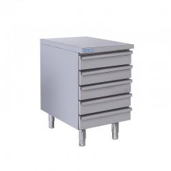 Ensemble de 5 tiroirs non réfrigérés équipés de guides télescopiques
