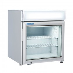 Armoire de congélation, 1 porte vitrée, enseigne lumineuse, 48 litres, 2 étagères, -15°/-20°C